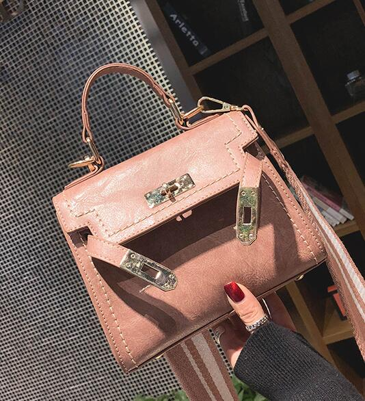 Casual Latch Decoration PU Women Satchel
