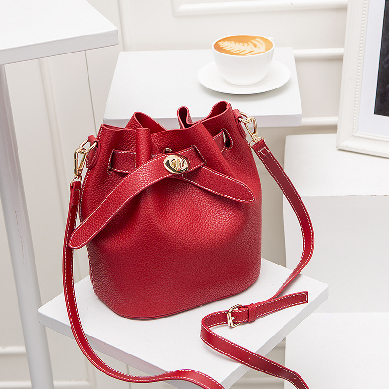 Korean Style String Soft PU Crossbody Bag