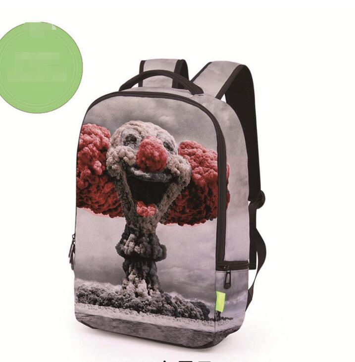 Realistic 3D Printing Pattern Backpack