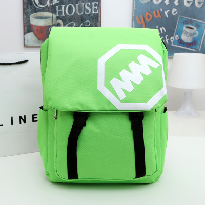 Preppy Chic Solid Color Canvas School Backpack
