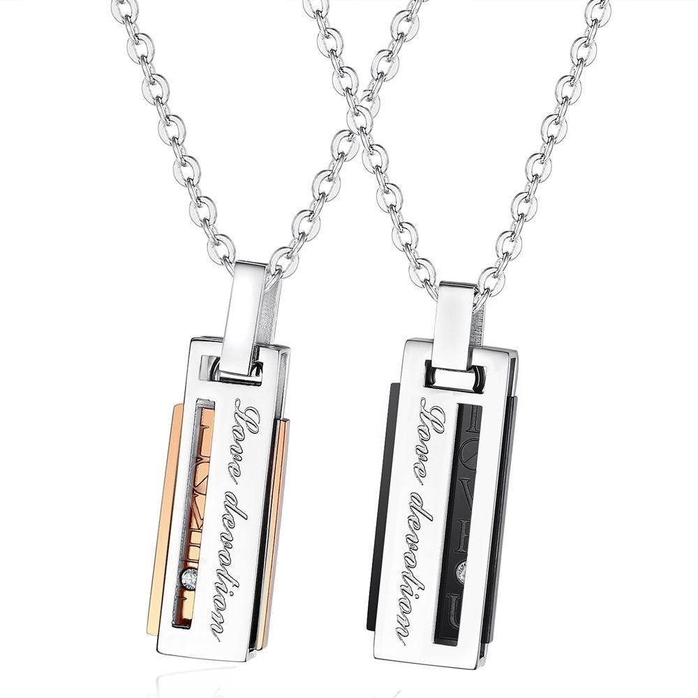 Fashion Rectangular Diamond Pendant Necklace