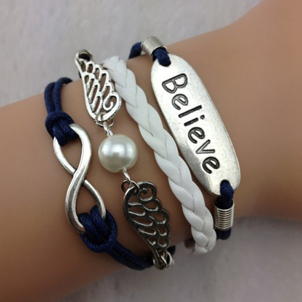 Angel Wings Believe Infinite Bracelet