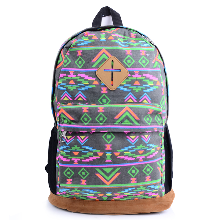 Ladies Floral Canvas Backpack School Bag Schoolbag Travel Backpack