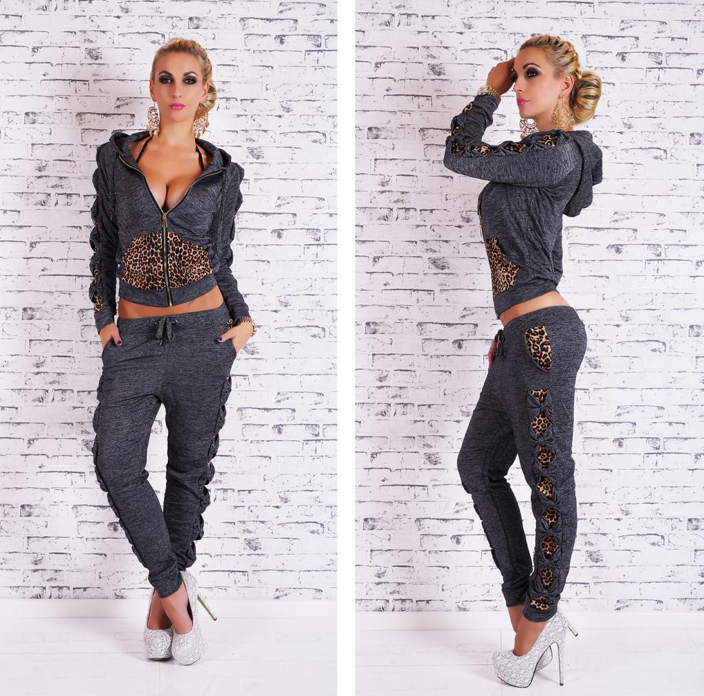 Leopard Patchwork Twinset Hoodies Set
