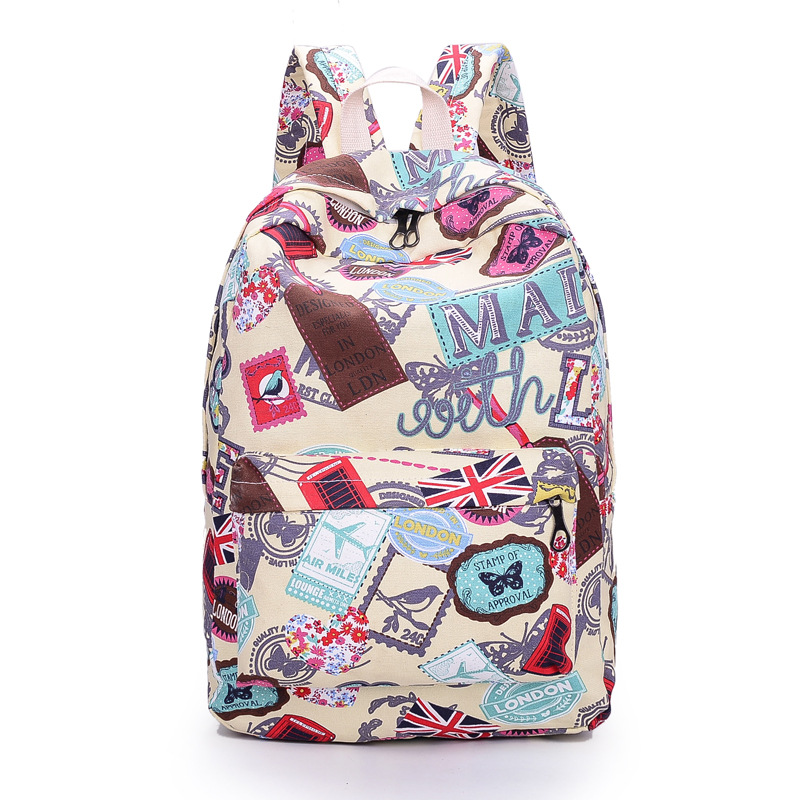 Best Seller Print Backpack Canvas School Travel Bag on Luulla 97adc09ca0f31