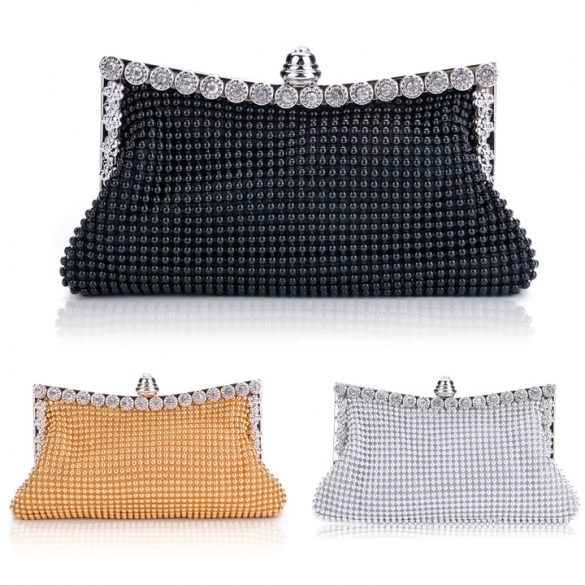 New Clutch Casual Women's Handbag Lady Party Crystal Evening Bags