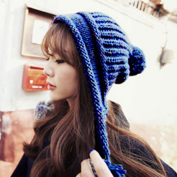 Women's Warm Knitted Crochet Ear Protector Knitted Cap Hat