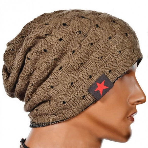Hot Sale Unisex Cool Hollow Out Wool Knit Autumn Winter Warm Beanie Cap
