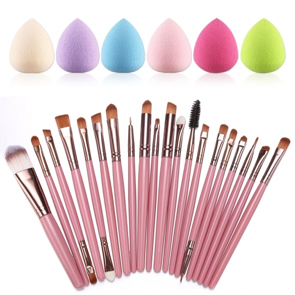 20pcs Makeup Brushes Kit Powder Foundation Eyeliner Eyeshadow Lip Brush Comestic Tool