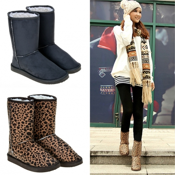 New Women Fashion Winter Warm Middle Long Snow Boots Shoes