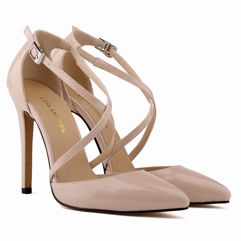 Pointed Sexy High Heels Shallow Mouth Buckle Shoes