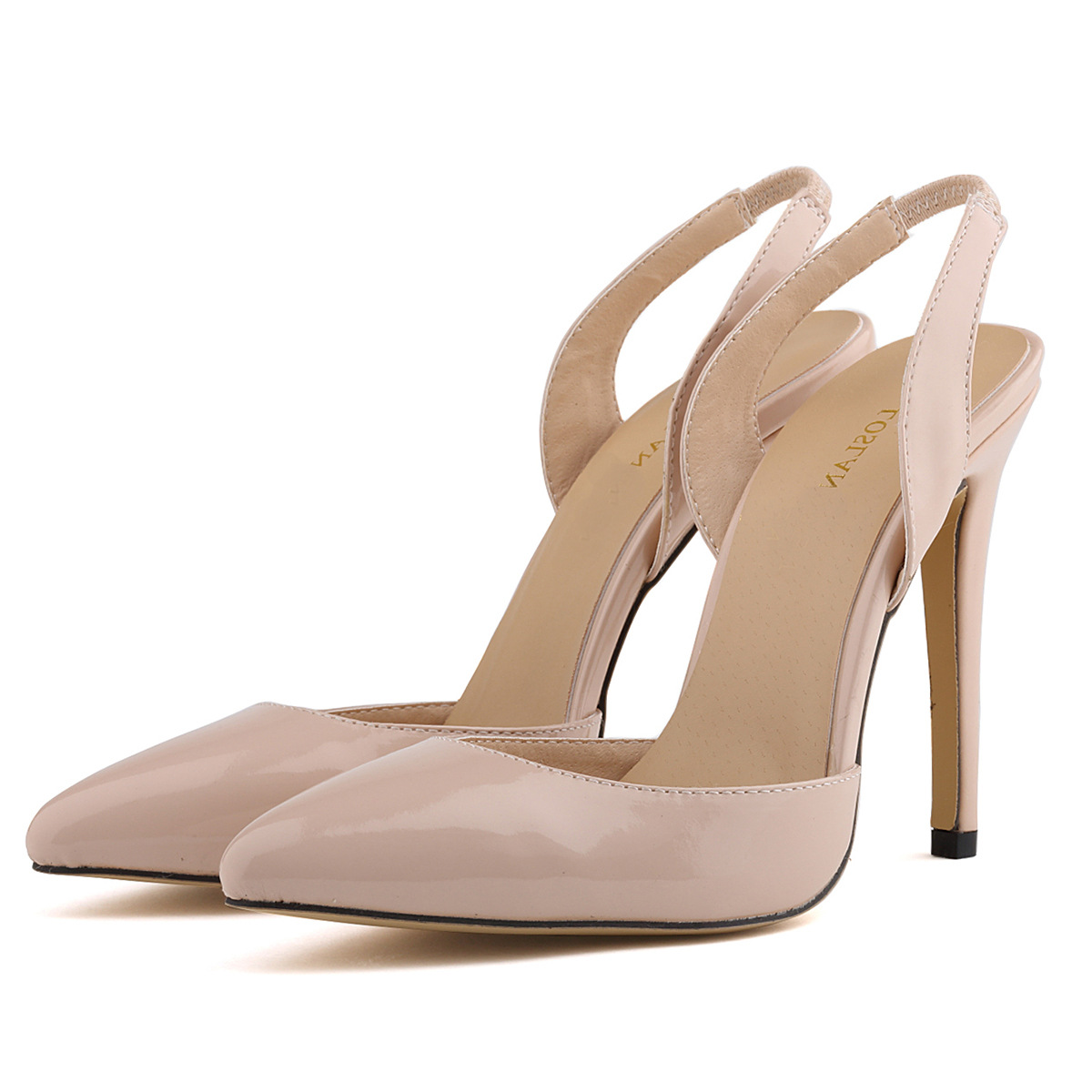 Pointed Toe Sling Back High Heel Stilettos