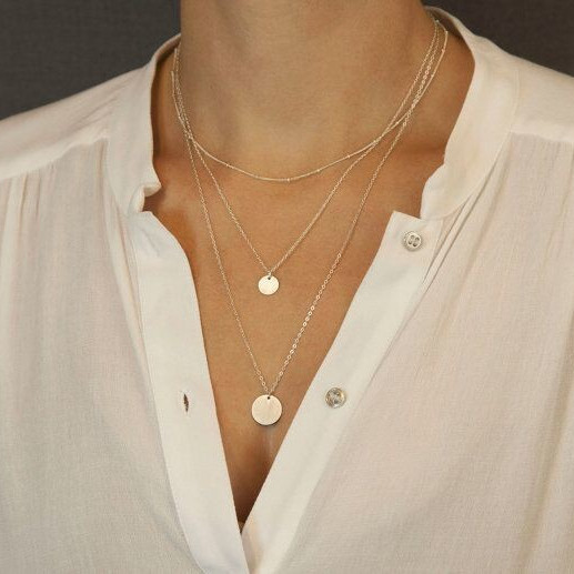Street Fashion Sequins Multilayer Necklace