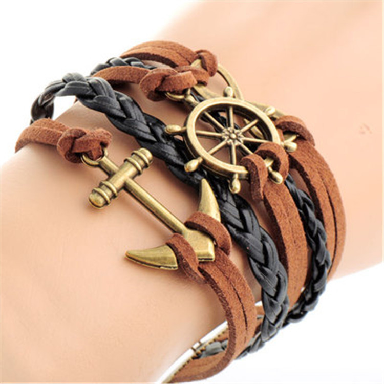 Fashion Rudder Anchor Multielement Bracelets