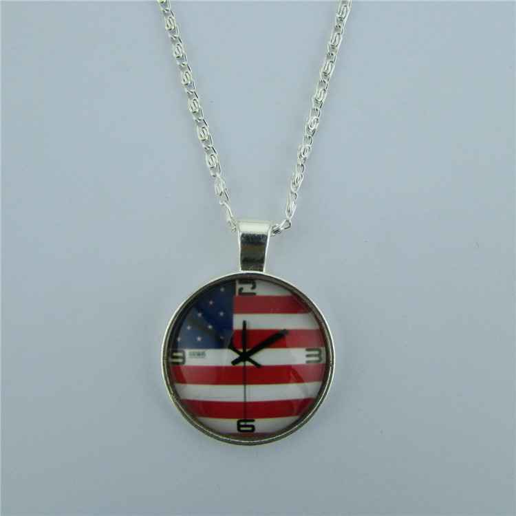 Personality American Flag Pendant Necklace