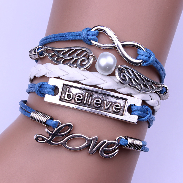 Love Angel's Wings Wax String Bracelet
