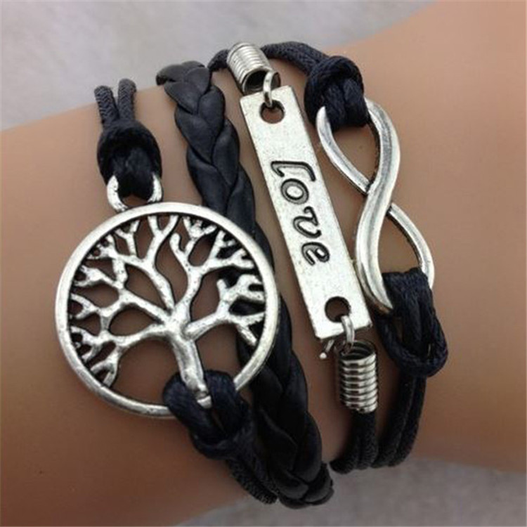 Love Tree of life Multilayer Woven Bracelet