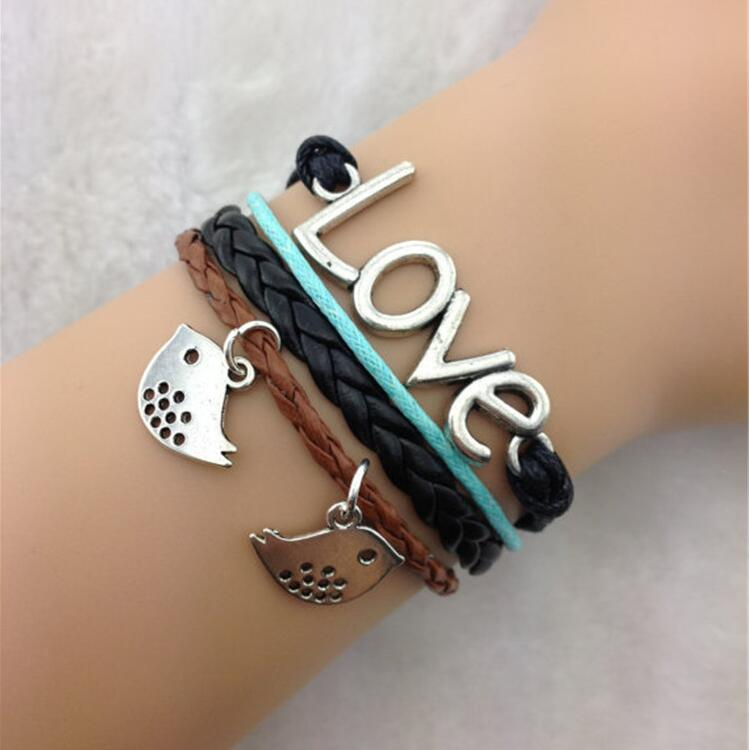 Hot Sale Love Birds Hand Woven Bracelet