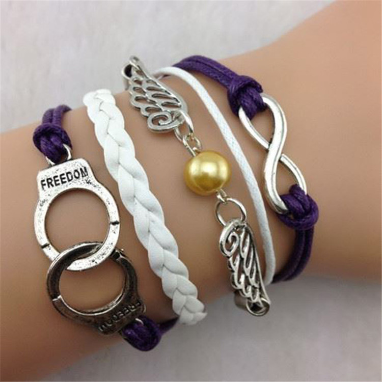 Personality Handcuffs Wings Handmade Woven Bracelet