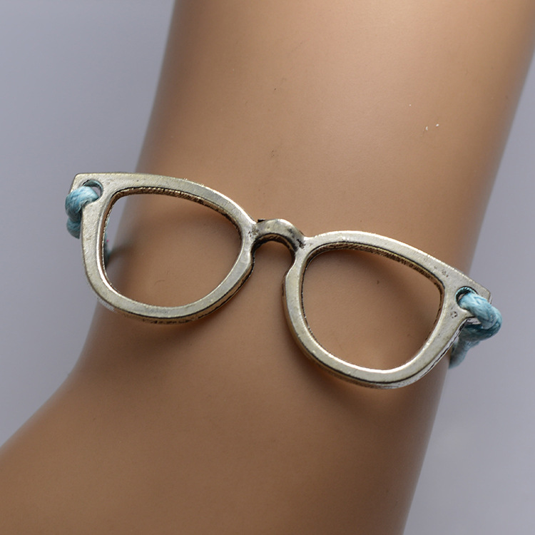Funny Glasses Wax String Bracelet