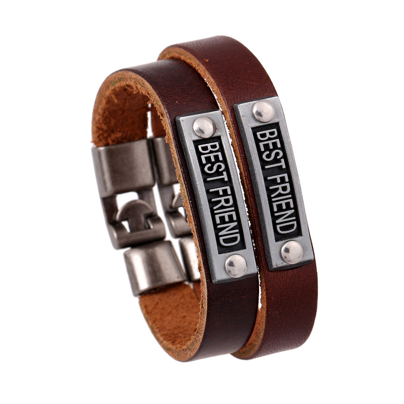 BEST FRIEND Leather Friendship Bracelet