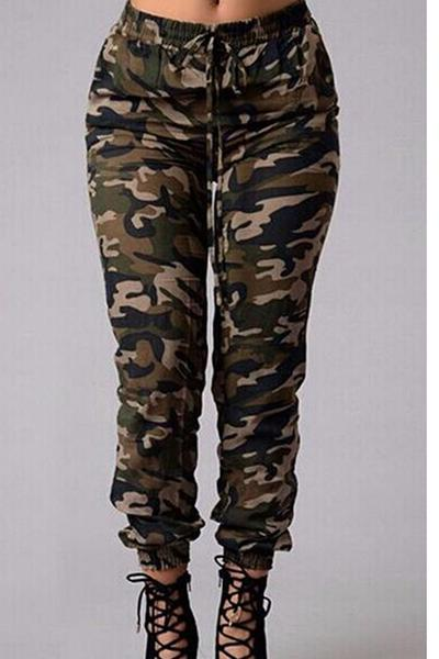 Personality Trend Camouflage Print Long Pants