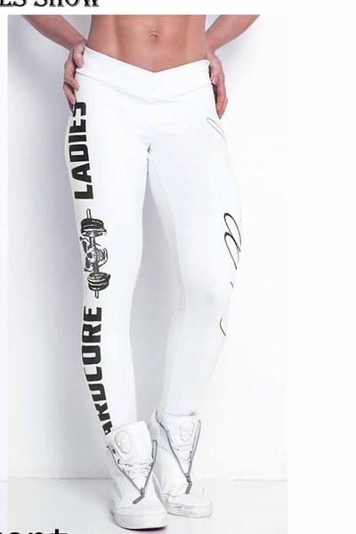 Letter Print Low Waist Slim Long Sports Pants