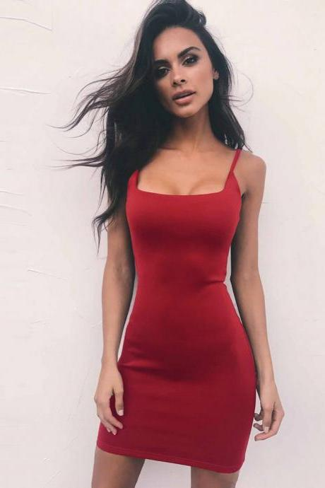 Sleeveless Backless Bodycon mini Dress