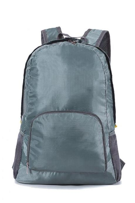 Pure Color Nylon Backpack