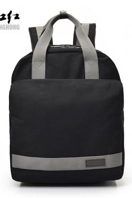 Korean Style Canvas Laptop Backpack