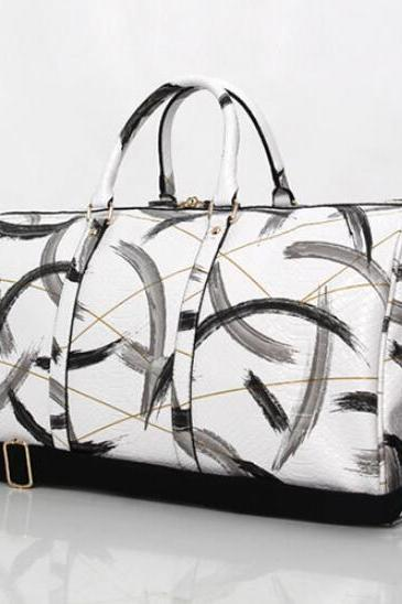 Serpentine Pattern Huge Space Pillow Satchel