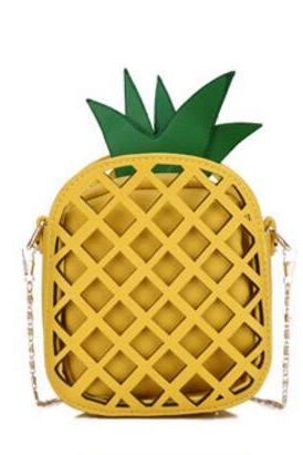 Lovely Pineapple Shape PU Crossbody Bag