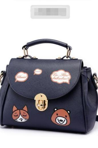 Casual Lovely Cartoon Animal Print Crossbody Bag