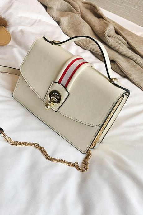 Well Match Color Block PU Women Crossbody Bag