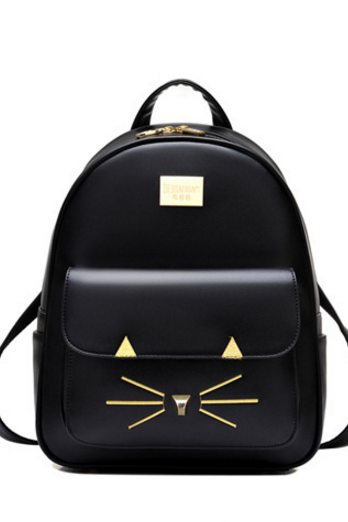 Stylish Kitty Pattern Women Backpack