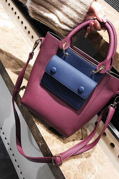Casual Patchwork Women Bag Set
