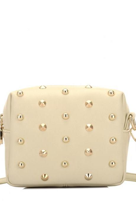 Concise Rivet Decoration Crossbody Bag