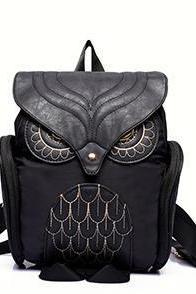 Particular Owl Design Nylon Backpack