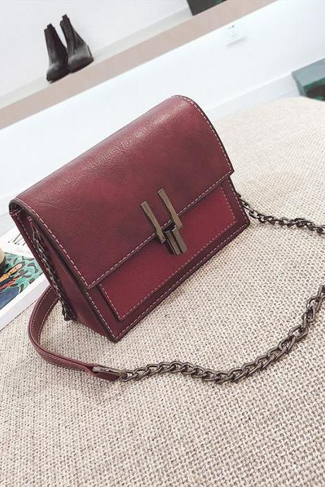 Korean Style Color Block Mini Crossbody Bag
