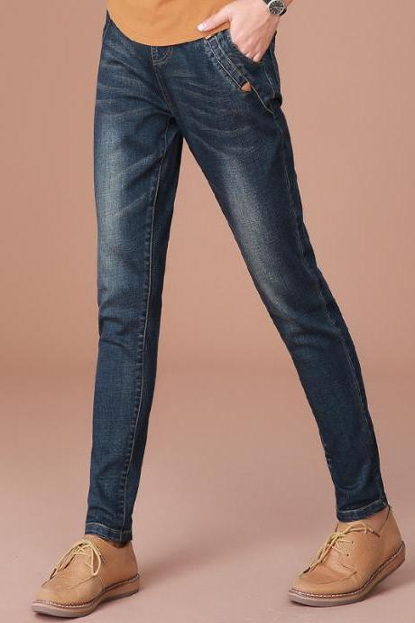 Slim High Waist Long Harem Pencil Jeans Pants