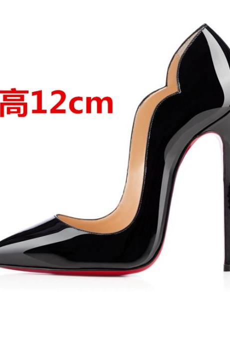 Low Cut Pointed Toe Candy Color 12cm Super High Heels Party Shoes