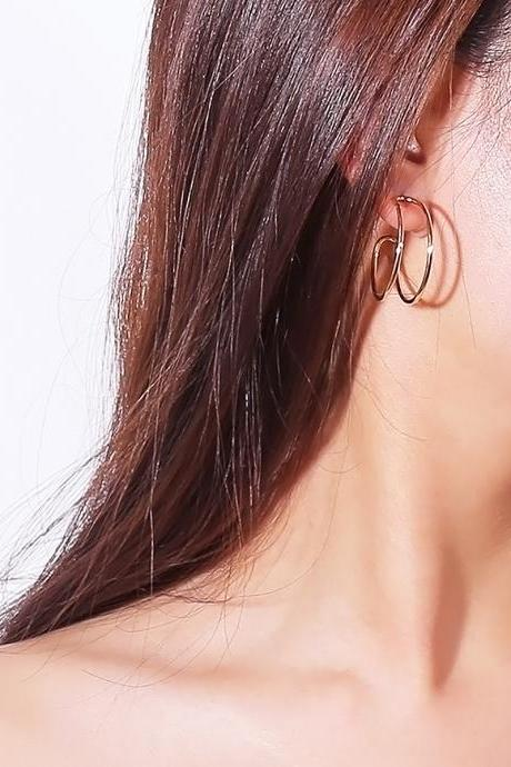 Simple Personality Geometric Circle Snail Earrings