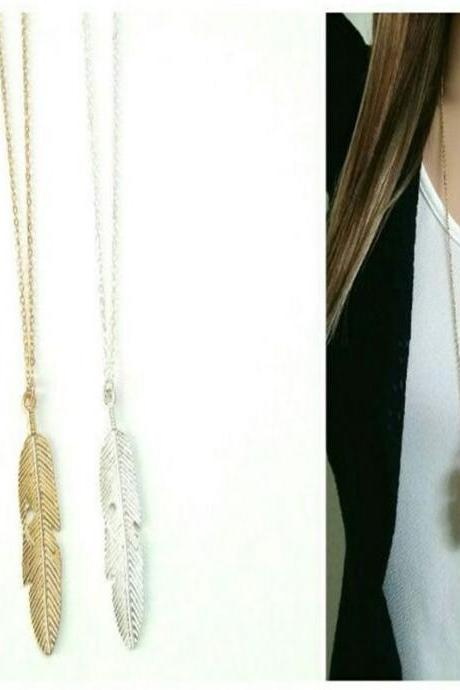 Bohemian Feathered Tassel Necklace