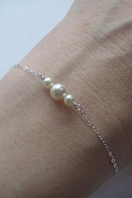 Fashion Street Snap Sweet Pearl Bracelet