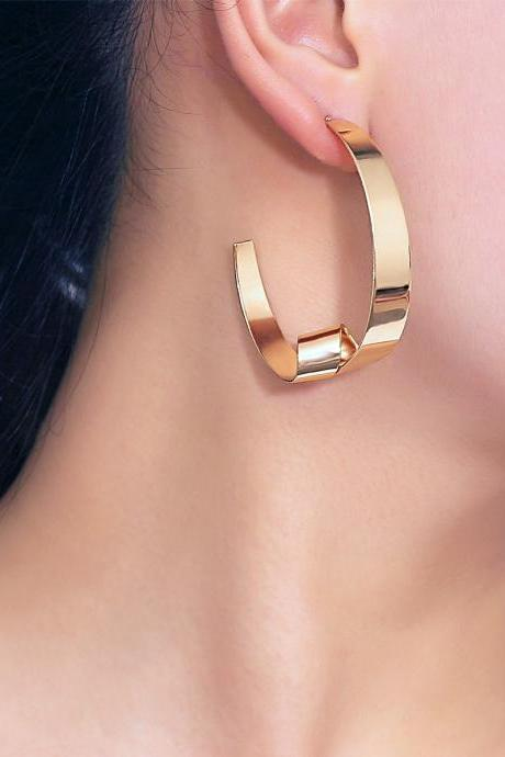 Geometric Irregular Twist Creative Earring