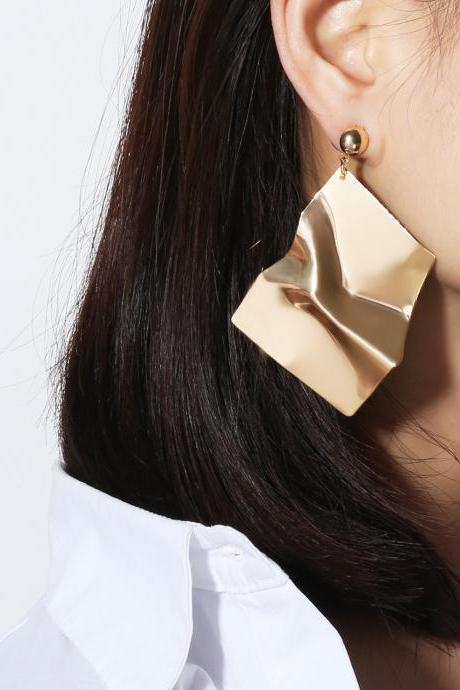 Fashion Geometric Irregular Mirror Temperament Earrings