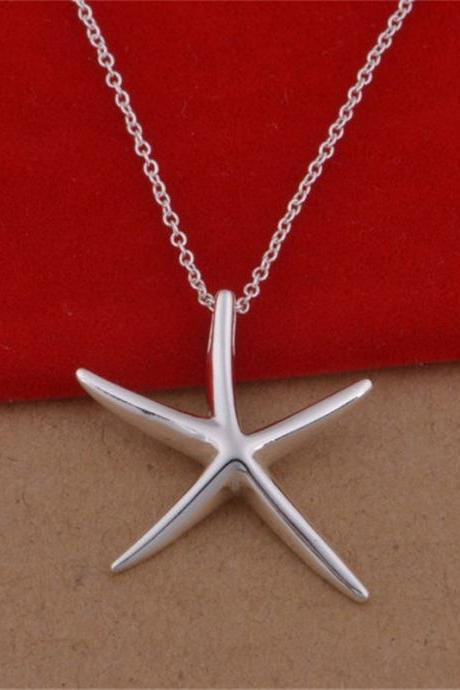 New Creative Starfish With Silver Pendant Necklace