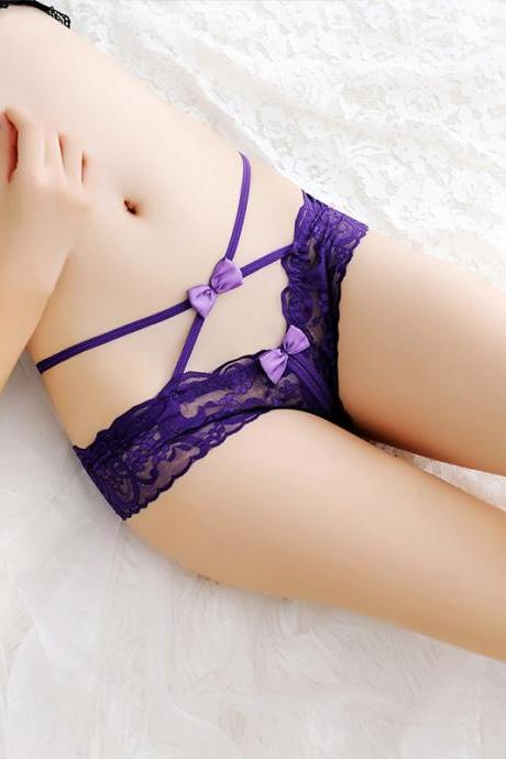 6af91485e Sexy transparent hollow lady open underwear(Buy two pieces and send one.)