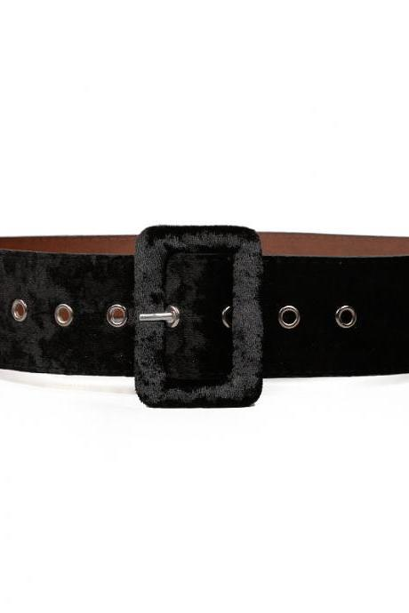 2020 Fashion Gold PU Velvet Belt
