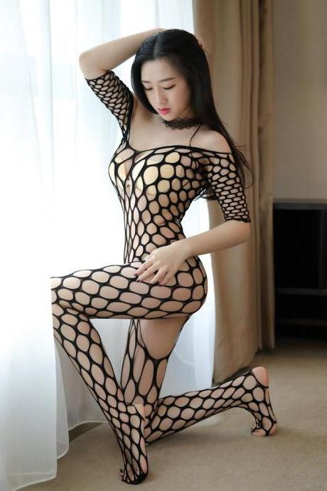 Plus Size Lingerie Sexy Hot Erotic Lingerie For Women Hollow Mesh Teddy Baby Doll Sexy Lingerie Fishnet Sex Costumes Underwear-3